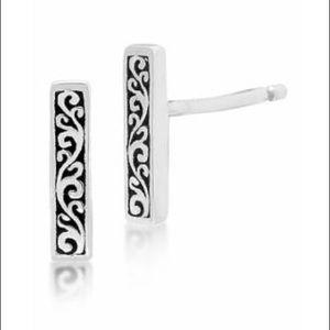 LOIS HILL Sterling Silver Scroll Bar Earrings